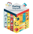 Dating infographics set vector