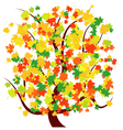 Autumn - fall tree vector