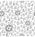 Hands draw floral seamless vector