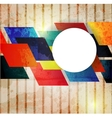 Retro modern abstraction in color abstract vector