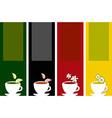 Colorful tea labels vector