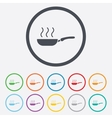 Frying pan sign icon fry or roast food symbol vector