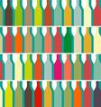 Color bottles vector