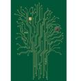 Computer motherboard tree vector