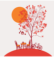 Autumn cafe vector