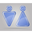 Transparent sign man and women toilets vector
