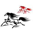 Horse tattoos vector
