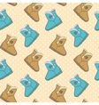 Seamless pattern with cute cartoon boots vector
