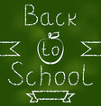 Back to school background with text vector