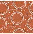 Pastry dough seamless pattern for pizza or pie vector