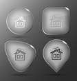 Home glass buttons vector