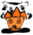 Haunted halloween witch house vector