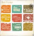 Vintage summer labels vector