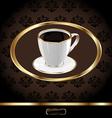 Vintage coffee packaging background vector