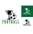 Championship football icon vector