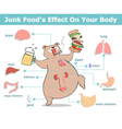 Junk food effect vector