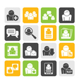 Silhouette social media and network icons vector