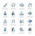 Medical health care icons set 2 - specialties vector