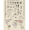 Doodles infographics set vector