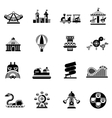 Amusement icons black vector