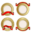Gold backgrounds vector
