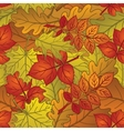 Leaves of plants seamless autumn vector