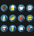 Color interface icons vector