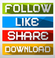 Follow - like - share - download paper vector