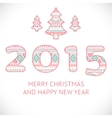 Happy new year 2015 beauty greeting card made in vector