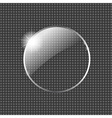 Glass ball with star vector