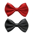 Red and black bow ties vector