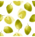 Watercolor olives pattern vector
