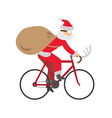 Santa ride bike vector
