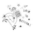 Back to school schoolboy endearing knowledge vector