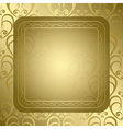 Bright golden background with golden ornament vector