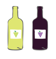 Red and white wine color vector