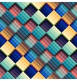Abstract geometric pattern with diagonal plaid vector