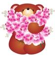 Bear with flower vector vector