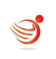 People round swirl wing logo vector