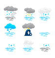 Different cloud icons set vector
