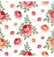 Roses floral background seamless pattern vector