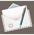 Envelope end pen vector