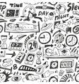 Sleep time - seamless backgound vector