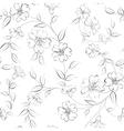 Elegant monochrome flowers fabric vector