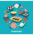 Sea food delicacies vector