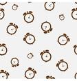 Clock alarm icon seamless pattern backgroumd vector