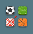 Different sports icons set with rounded corners vector