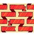 Drawing styled seamless pattern with ribbons vector