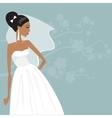 Beautiful bride in a wedding dress vector