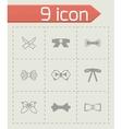 Bow ties icon set vector